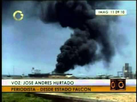 VENEZUELA: Incendio en muelle de Refinería Cardón