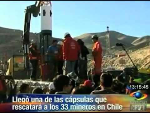 esta es una de las capsulas de rescate para los mineros