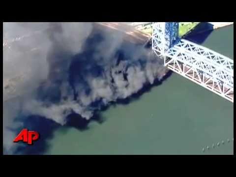 EEUU: Incendio en el Puente Harlem de Nueva York