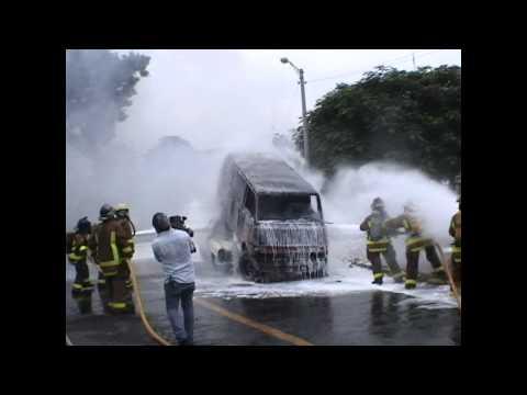 NICARAGUA : Benemérito Cuerpo de Bomberos Managua Simulacro Incendio