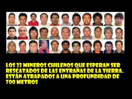 RESCATE 33 MINEROS CHILENOS [www