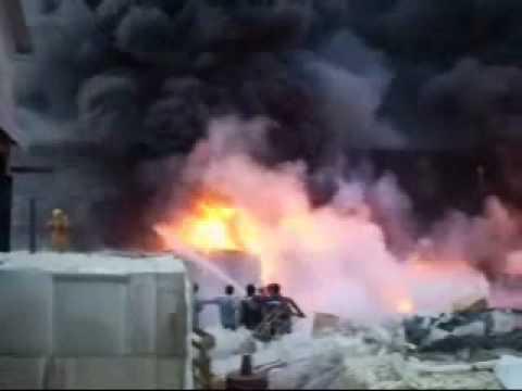 Incendio en  cartonera / Rio Grande en Argentina