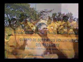 Homenaje a la 1ra. Compania del Cuerpo de Bomberos Voluntarios del Paraguay