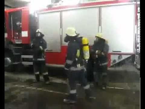 Los bomberos se divierten