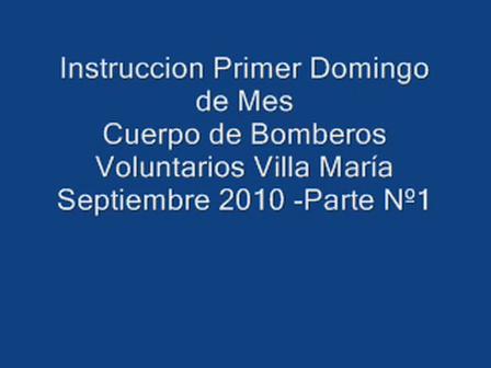 Practicas realizadas el Primer Domingo de cada Mes / Cuerpo de Bomberos Voluntarios de Villa Maria / Cordoba en Argentina