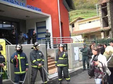 Inauguracion Parque Bomberos Fantasma.Lavado de cara Gobierno del Principado Asturias.Noviembre 2010