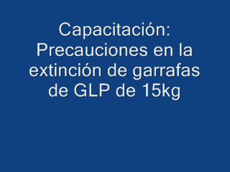Prevención y Extincion de Garrafas GLP / Bomberos Voluntarios de Villa Maria, Cordoba en Argentina / Video Destacado de La Hermandad de Bomberos