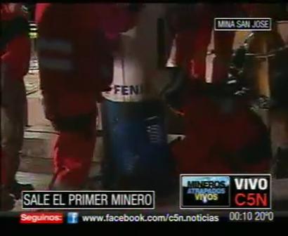C5N LLEGO FLORENCIO AVALOS - EL PRIMER MINERO RESCATADO [www
