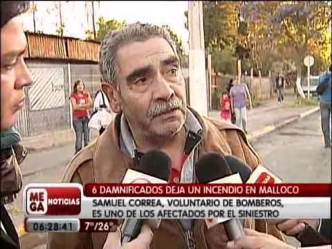 CHILE Incendio en Malloco, Megavision.