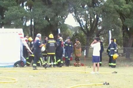 Curso de la 15 Escuela de incendio extructurales / Trenque Lauquen en Buenos Aires / Instructor Ger…