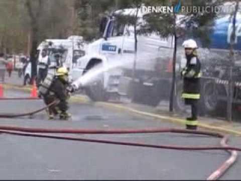 Simulacro de accidente en Berisso