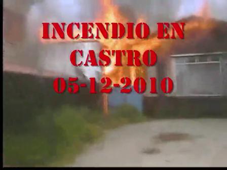 CHILE INCENDIO EN CASTRO