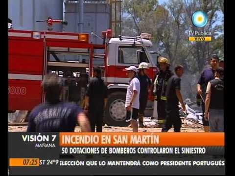 23 de Enero de 2011 /  Incendio en San Martín / Buenos Aires en Argentina
