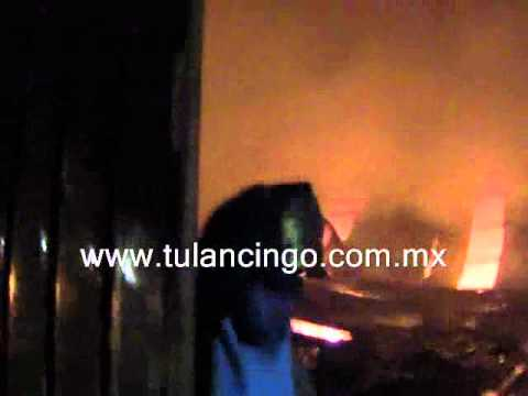 15 de enero de 2011 / Incendio de fábrica textil en Santiago Tulantepec, Tulancingo / Mexico