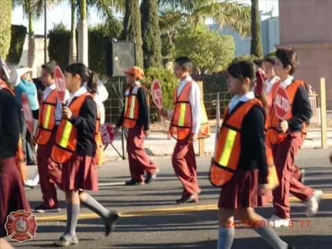 24 de Febrero de 2011 / Cuerpo de Bomberos de Cajeme en el desfile del Dia de la Bandera en Mexico