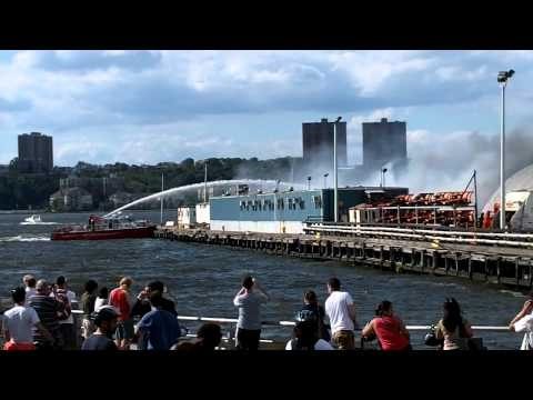 Pier fire at W57th part 2 of 2, Sept 4 2010.