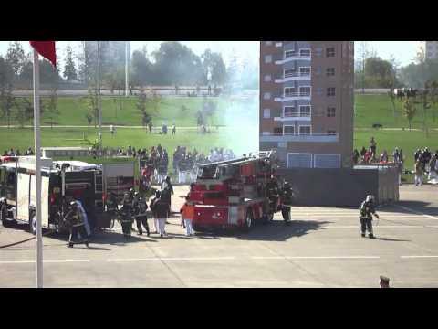 Bomberos Santiago (CBS) Ejercicio General 2011 II  (Chile) / Video Destacado de La Hermandad de Bomberos