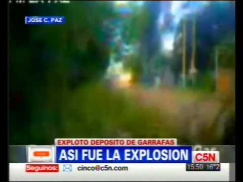 21 de Abril de 2011 / Explosión de Deposito de Garrafas / Jose C. Paz, Buenos Aires en Argentina