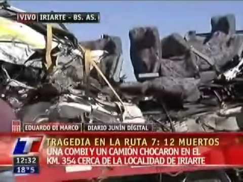 Choque entre Camión y Combi deja al menos 12 muertos en Alberdi / Buenos Aires en Argentina