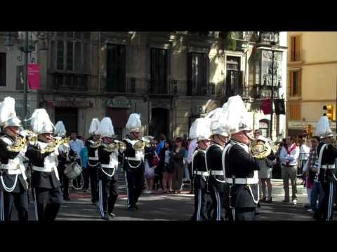 23 de Abril de 2011 / Banda del Real Cuerpo de Bomberos en la Alameda en Semana Santa de Málaga / España