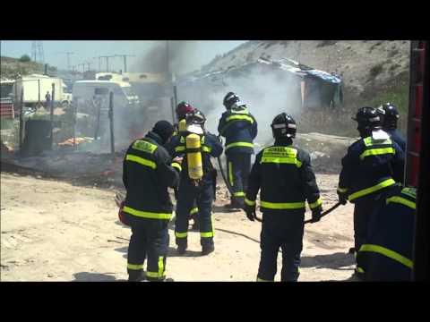 Abordo, Se quema una chabola en la Cañada Real / Madrid. España