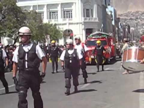 Desfile / Cuerpo de Bomberos de Antofagasta / Chile