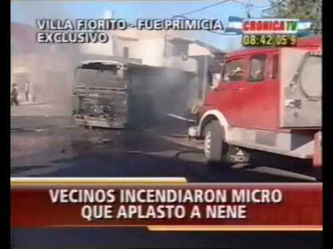Incendio de Colectivo en Lomas de Zamora / Buenos Aires en Argentina / Video Destacado de La Hermandad de Bomberos