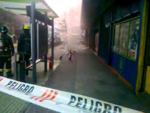 CHILE Incendio eléctrico subterráneo en las calles de Santiago by Zomdark