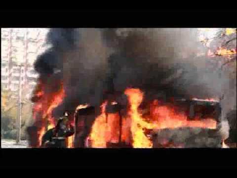 Fuego en Bus Transantiago.