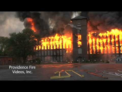 Massive inferno destroys mill complex in Woonsocket, RI