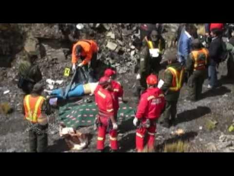 """Rescate de cuerpos  Bomberos """"Antofagasta"""" La Paz-Bolivia"""