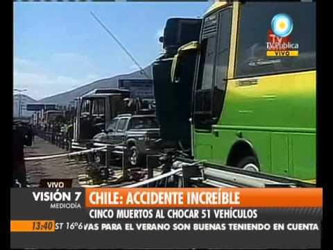 12 de Octubre de 2011 / Multiple accidente Vehicular en Chile, V Region