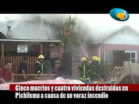 CHILE Incendio deja 5 muertos en Pichilemu