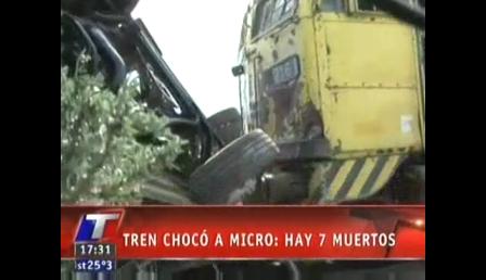 02 de noviembre de 2011 / Tragedia en San Luis  murió una de las nenas internadas y son 8 las víctimas por el choque entre un micro y un tren / San Luis en Argentina