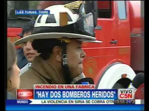 13 DE DICIEMBRE DE 2011 / INCENDIO EN TIGRE: HABLA JEFE DE BOMBEROS / BUENOS AIRES EN ARGENTINA