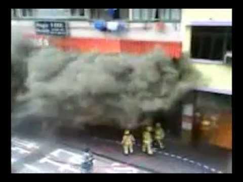 Mong Kok Fire - explosion!