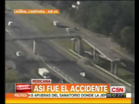C5N - TRANSITO: CHOQUE MORTAL EN PANAMERICANA