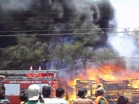 Incendio Arica - av.Tucapel con Putre