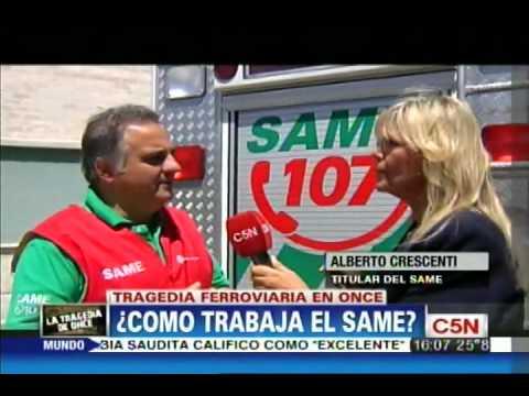 TRAGEDIA FERROVIARIA DEL TREN SARMIENTO EN EL BARRIO DE ONCE: ¿COMO TRABAJA EL SAME? / BUENOS AIRES EN ARGENTINA