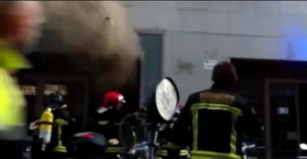 Explosión de Gas en Comercio de Barcelona / España