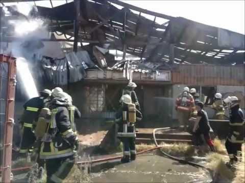 14 de Febrero de 2012 / Incendio de Galpón, ex supermercado Coperhua  en Talcahuano - / Chile