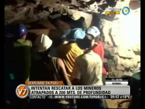 09 de Abril de 2012 / Derrumbe en un túnel minero / Peru
