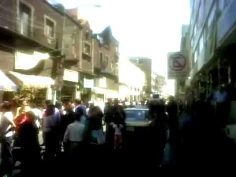 Temblor de 7.8 en México 20 de marzo de 2012 Centro Histórico / México