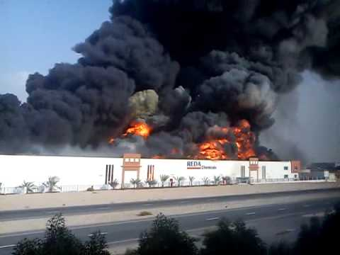 Fire In Dubai Investment Park 2 on 11 Oct 2011