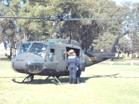Curso de Recursos Aereos, entrenamiento con Helicopteros Bell / Bomberos Voluntarios de Pigue, Buenos Aires en Argentina