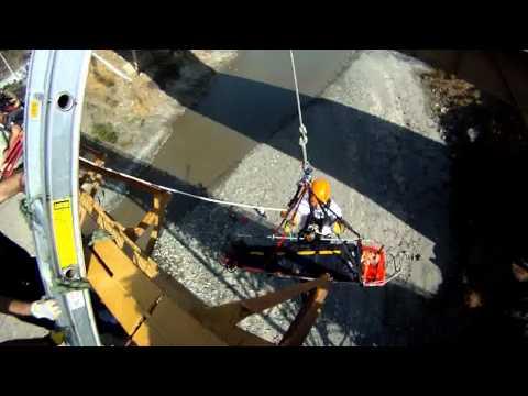 Rescate Vertical / Voluntarios de la Segunda Cia de Bomberos Coya. Region de Ohiggins, Chile