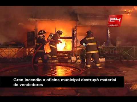 04 de Mayo de 2012 / Incendio afecta a dependencias municipales en Viña del Mar / Chile