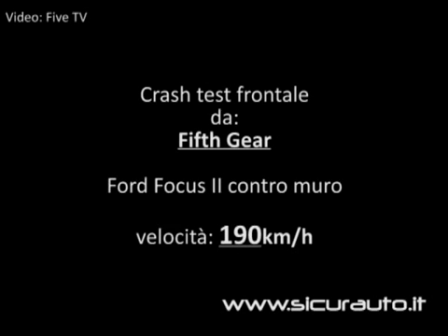 Que pasa con un Ford Focus al chocar un muro a 190 Km/h / Crash Test