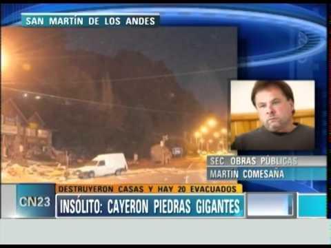 4-6-12 SAN MARTIN DE LOS ANDES: CAYERON PIEDRAS GIGANTES.