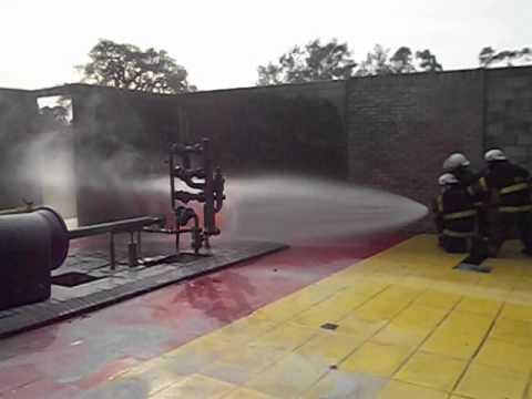Simulador de Gas Natural / Entrenamiento de Bomberos de Policía Federal / Buenos Aires en Argentina
